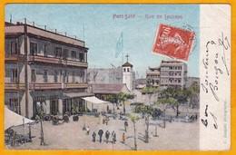 1910 - CP De Port Said, Egypte Vers La Souterraine, France - Paq Fr N° 6 - Ligne N - Affrt 10 C Semeuse Camée - Postmark Collection (Covers)