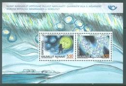 GROENLAND - MNH/*** LUXE - 2004 - NORDIC MYTHOLOGIE - Yv BLOC 26 - Lot 17293 - Blocs