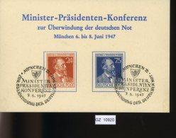 All. Besetzung, Sonderkarton Minister-Präsidenten-Konferenz München 1947, 963 - 964 - Zone AAS