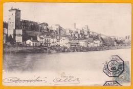 1905 - CP De Buenos Aires, Argentine Vers Bordeaux, France - Ligne Maritime K N° 4 - Affrt 5 C Type Blanc - Postmark Collection (Covers)