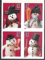 US  2002   Sc#3687a  37c  Christmas Booklet Block MNH  Face $1.48 - Etats-Unis