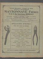 Bordeaux (33 Gironde) Catalogue MAYSONNAVE Fr  N°18: Outillage (CAT 1090) - Pubblicitari