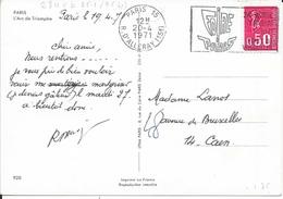 SEINE 75  -  PARIS 15   -   FLAMME N° 2840b   FD  -  VOIR DESCRIPTION  -  1971 - FOIRE DE PARIS - Storia Postale