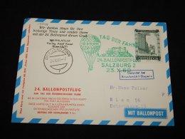 Austria 1960 Salzburg 2 Balloonpost Card__(L-19548) - 1945-60 Briefe U. Dokumente