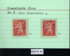 SBZ, Berlin-Brandenburg, 5 Lose, 5I , PLF / Abart - Siehe Foto U.a. - Zone Soviétique