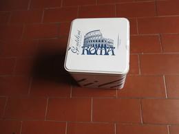 VECCHIA SCATOLA DI LATTA GENTILINI ROMA - - Scatole