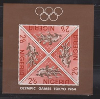 NIGERIA Scott # 168a MNH - Tokyo Olympics 1964 Souvenir Sheet - Nigeria (1961-...)