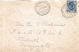 """R121- Busta Del 1930 Da Siracusa A Duluth - Minnesota  (USA)  Con Lire 1,20 """" Floreale"""" Annullo Personalizzato. - 1900-44 Vittorio Emanuele III"""