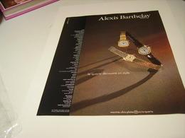 PUBLICITE AFFICHE MONTRE ALEXIS BARTHELAY 1980 - Bijoux & Horlogerie
