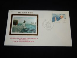 Brazil Pope Visit Golden Series 1980 Belo Horizonte Cover__(L-18313) - Papes