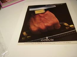 ANCIENNE PUBLICITE  MONTRE CORUM 1978 - Autres