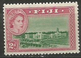 Fiji - 1954 Cityscape 2d MLH *     SG 283  Sc 150 - Fiji (...-1970)