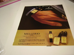 ANCIENNE PUBLICITE  MONTRE CORUM CHEZ MELLERIO  1980 - Bijoux & Horlogerie