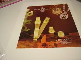 ANCIENNE  PUBLICITE  MONTRE BAUME & MERCIER  1979 - Autres