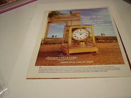 ANCIENNE PUBLICITE PENDULE ATMOS JUBILE  JAEGER LECOULTRE  1979 - Autres