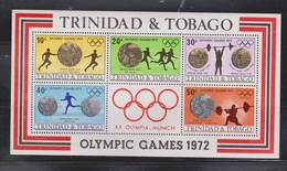 TRINIDAD & TOBAGO Scott # 227a MNH - 1972 Munich Olympics Souvenir Sheet - Trinidad & Tobago (1962-...)