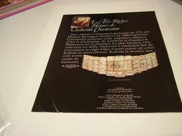 ANCIENNE PUBLICITE MONTRE LES TRES RICHES HEURES VACHERON ET CONSTANTIN 1980 - Bijoux & Horlogerie