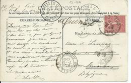 Franse Zichtkaart St.Germain-en-Laye Verstuurd Naar Brussel - Stempels BRUXELLES ARRIVEE/BRUXELLES(EST)/QUENAST - Marcophilie