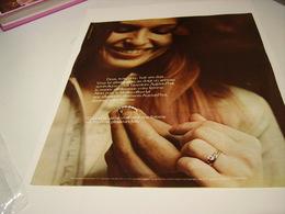 ANCIENNE PUBLICITE DIAMANTS ETERNEL 1972 - Bijoux & Horlogerie