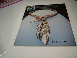 ANCIENNE PUBLICITE JOAILLIER CHAUMET 1983 - Jewels & Clocks