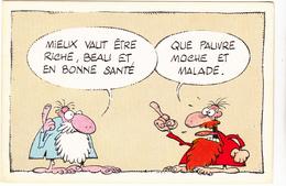 MORCHOISNE  Ed Dervish - Mini Maximes N°9  Humour Bonne Sante Malade  - CPM  10,5x15 BE Neuve - Illustrators & Photographers