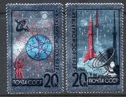 SOVIET UNION 1965 Cosmonauts' Day LHM / * .  Michel 3042-43 - Unused Stamps