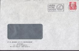 Denmark JENSEN & SCHOUSBOE Special Doctors Øre-, Næse- Halssygdomme Slogan Flamme ODENSE 1981 Cover Brief - Briefe U. Dokumente