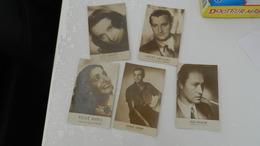 Lot De 5 Cartes   3 Disques Pathé   -  2 Columbia    (  Tampon  Machemont  Oise  ) - Other Famous People