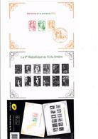 FRANCE Bloc F4781 La 5e République Au Fil Du Timbre 2 Blocs - Sheetlets