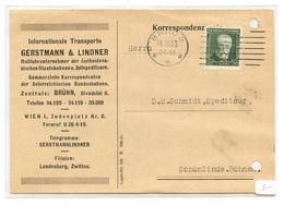 Czechoslovakia, Gerstmann & Linder Company Postkarte Travelled 1933 Brno Pmk B180702 - Cecoslovacchia