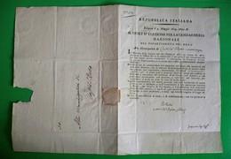 D-IT Napoleone Repubblica Italiana 1803 Castel San Pietro Bologna - Documents Historiques