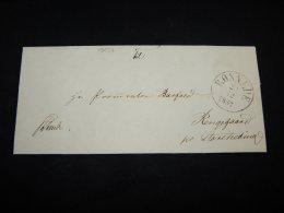 Denmark 1857 Ronnede Prephilately Letter__(L-19037) - 1851-63 (Frederik VII)
