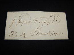 Denmark 1861 Kjoge Prephilately Letter__(L-19042) - 1851-63 (Frederik VII)