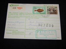 Faroe Islands 1983 Torshavn Parcel Card__(L-18731) - Färöer Inseln