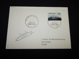 Faroe Islands 1984 Mariehamn M/F Teistin Cover__(L-17464) - Féroé (Iles)