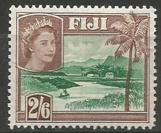 Fiji - 1954 Village 2/6d MLH *     SG 292a  Sc 159 - Fiji (...-1970)