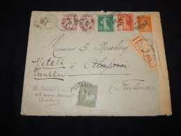 France 1916 Censored Registered Cover To Finland__(L-19084) - Covers & Documents