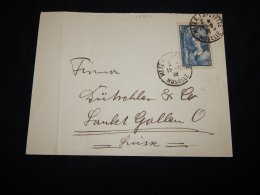 France 1938 Metz Cover To Switzerland__(L-18707) - Francia