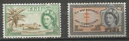 Fiji - 1954 TB Campaign MLH *     SG 296-7  Sc B3-4 - Fiji (...-1970)