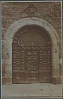 Gatehouse Door, Cathedral Close, Exeter, Devon, C.1920 - Sweetman RP Postcard - Exeter