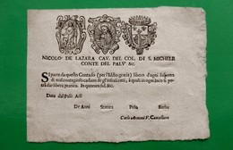 D-IT Fede Di Sanità Repubblica Di Venezia - Documents Historiques