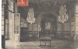 37. PALAIS DE FONTAINEBLEAU . SALON SAINT-LOUIS . AFFR A-CHEVAL RECTO/VERSO DU 29-1-1908 . 2 SCANES - Fontainebleau