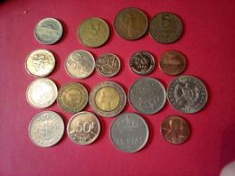 DÉPART 1.5 €  LOT DE 18 MONNAIES Pièces Anciennes ÉTRANGÈRES à Trier Non Nettoyées - Monnaies & Billets