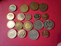 DÉPART 1.5 €  LOT DE 18 MONNAIES Pièces Anciennes ÉTRANGÈRES à Trier Non Nettoyées - Vrac - Monnaies