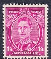 Australia ASC 182 1937-49 King George VI One Shilling And Four Pence Magenta, P 13.5 X 14, MNH - Neufs