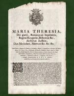 D-IT Ducato Di Milano 1776~ Maria Teresa D'Austria Legge Sulle Successioni Testamentarie - Documents Historiques