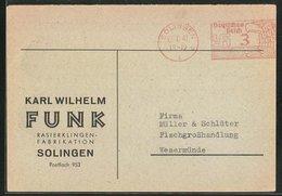 AK Solingen, Firma Karl Wilhelm Funk, Rasierklingen-Fabrikation - Solingen