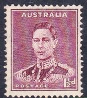 Australia ASC 185  1937-49 King George VI, Three Half Penny Marron, Perforated 14x15, Mint Never Hinged - 1937-52 George VI