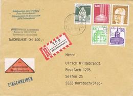 29138. Carta NACHNAHME Certificada, Envio Dinero DELMERHORST (Alemania Federal) 1983 - [7] República Federal