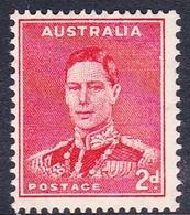 Australia ASC 187  1937-49 King George VI, 2d Red Perforated 14x15, Mint Never Hinged - 1937-52 George VI